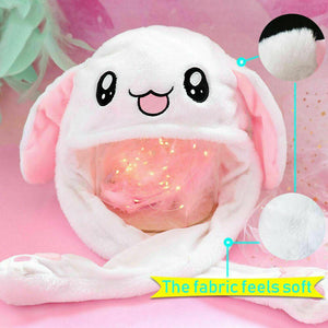 Bunny Pop / Cute Movable Ears Jumping & Dancing Ears White Hat Animal Hats