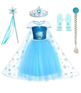 Blue Princess Costume Dress Set (Including 5 Pieces) Onesies