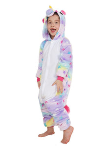 Onesie World Unisex Animal Pyjamas - Rainbow Star Unicorn Kids (Cosplay / Nightwear Halloween