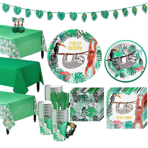 Wildlife Theme Birthday Party Tableware Package (#Type B)