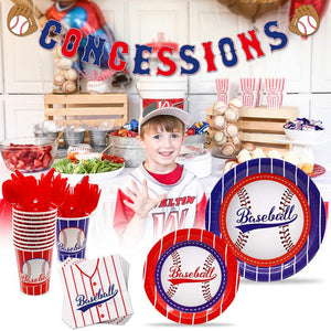 Baseball Theme Birthday Party Tableware Package