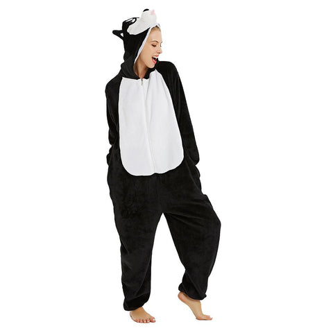 Onesie World Unisex Animal Pyjamas - Black Husky Dog Adult (Cosplay / Nightwear Halloween Carnival