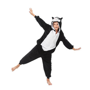 Onesie World Unisex Animal Pyjamas - Black Husky Dog Kids (Cosplay / Nightwear Halloween Carnival