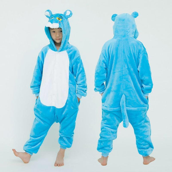 Onesie World Unisex Animal Pyjamas - Blue Panther Kids (Cosplay / Nightwear Halloween Carnival