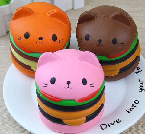 Cat Burger Squishy Squishies