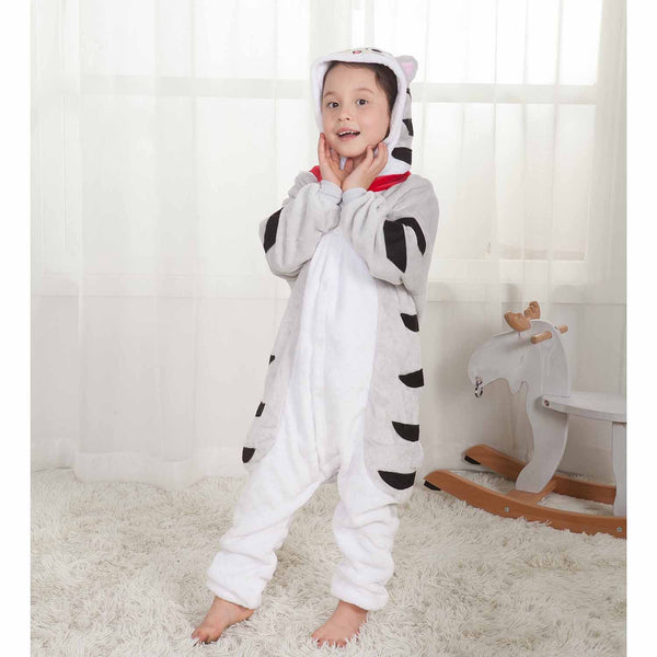 Onesie World Unisex Animal Pyjamas - Sweet Chii Cat Kids (Cosplay / Nightwear Halloween Carnival