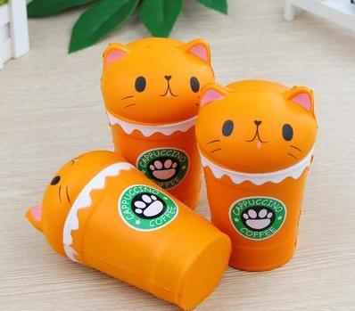 Cat Coffee Cup Squishy Squishies