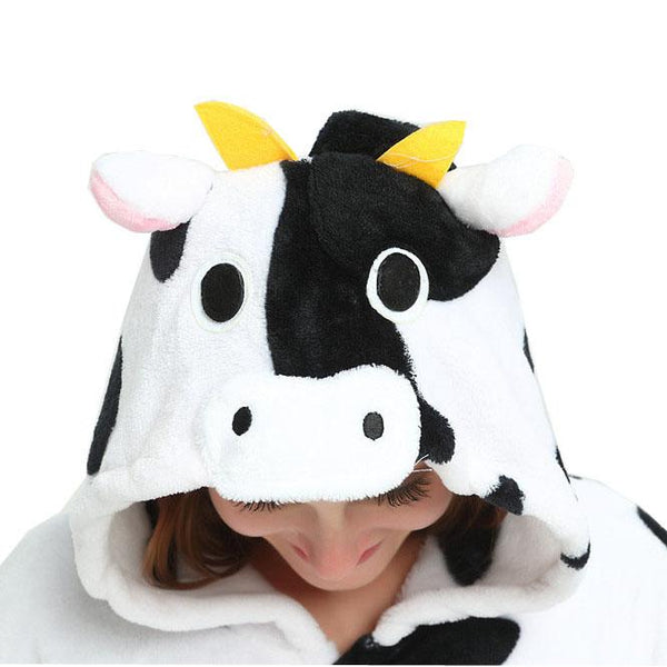 Onesie World Unisex Animal Pyjamas - Cow Adult (Cosplay / Nightwear Halloween Carnival Novelty