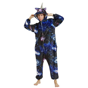 Onesie World Unisex Animal Pyjamas - Dark Galaxy Unicorn Adult (Cosplay / Nightwear Halloween
