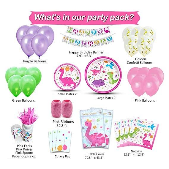 Dinosaur Theme Birthday Party Supplies Premium Package (#Type A)