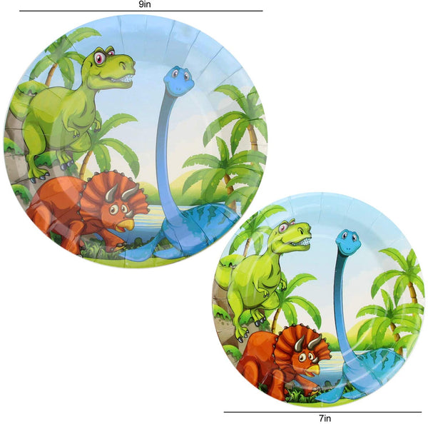 Dinosaur Theme Birthday Party Tableware Package (#Type A)