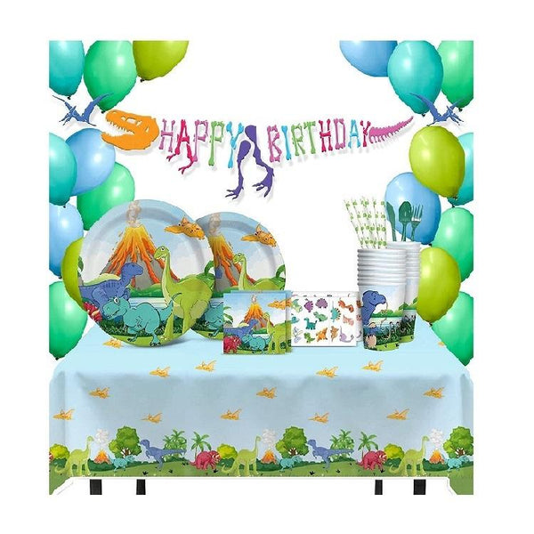 Dinosaur Theme Birthday Party Supplies Basic Package (#Type B)