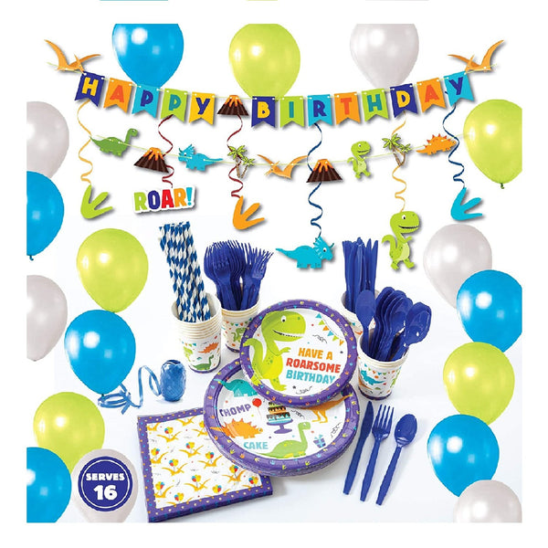 Dinosaur Theme Birthday Party Supplies Basic Package (#Type A)