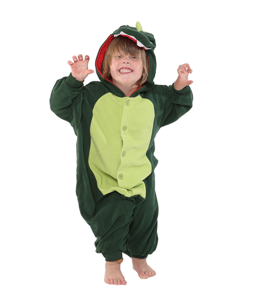 Onesie World Unisex Animal Pyjamas - Green Dinosaur Kids (Cosplay / Nightwear Halloween Carnival