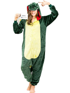 Onesie World Unisex Animal Pyjamas - Green Dinosaur Adult (Cosplay / Nightwear Halloween Carnival