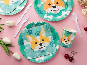 Puppy Theme Birthday Party Cutlery Package (#Type A)