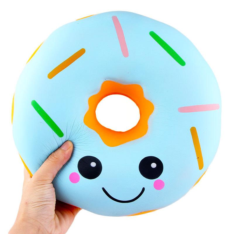Giant Donut Squishy Blue Squishies