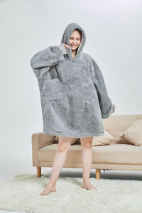 My Snuggy - Grey Oversized Blanket Hoodie
