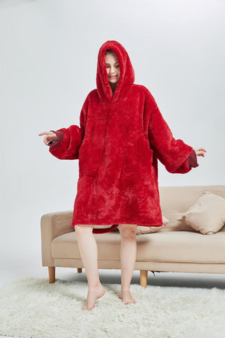 My Snuggy - Red Oversized Blanket Hoodie