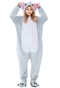 Onesie World Unisex Animal Pyjamas - Grey Elephant Adult (Cosplay / Nightwear Halloween Carnival
