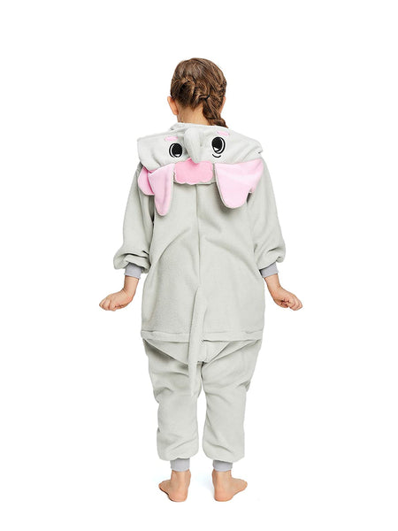 Onesie World Unisex Animal Pyjamas - Grey Elephant Kids (Cosplay / Nightwear Halloween Carnival