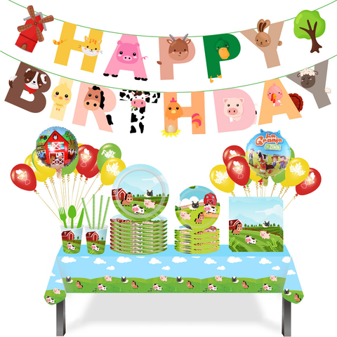 Farm Theme Birthday Party Tableware Package