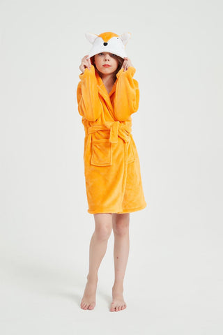 Onesie World Orange Fox Kids Bathrobe