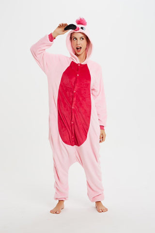 Onesie World Unisex Animal Pyjamas - Pink Flamingo Adult (Cosplay / Nightwear Halloween Carnival