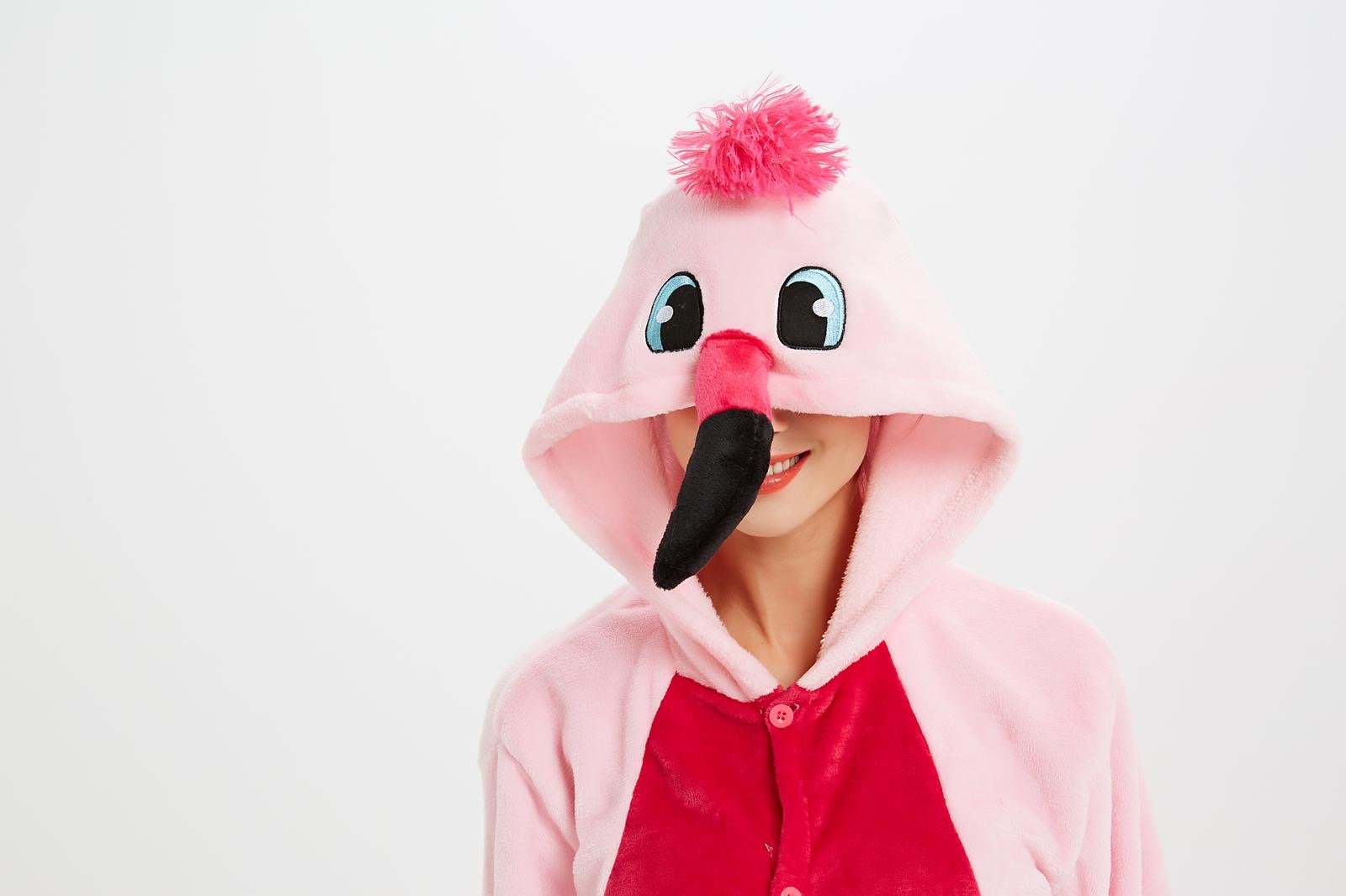 Onesie World Unisex Animal Pyjamas - Pink Flamingo Kids (Cosplay / Nightwear Halloween Carnival