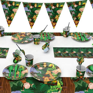 Wildlife Theme Birthday Party Tableware Package (#Type A)