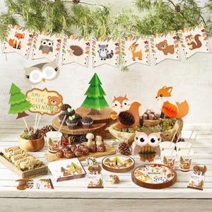 Woodland Theme Birthday Party Tableware Package