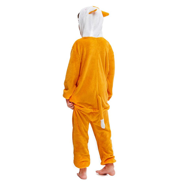 Onesie World Unisex Animal Pyjamas - Orange Fox Kids (Cosplay / Nightwear Halloween Carnival Novelty