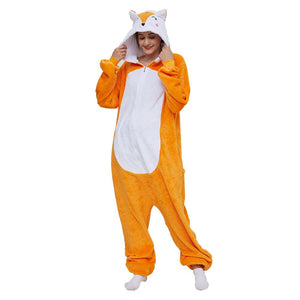 Onesie World Unisex Animal Pyjamas - Orange Fox Adult (Cosplay / Nightwear Halloween Carnival