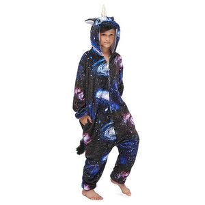 Onesie World Unisex Animal Pyjamas - Dark Galaxy Unicorn Kids (Cosplay / Nightwear Halloween