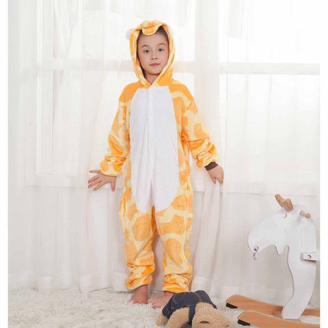 Onesie World Unisex Animal Pyjamas - Giraffe Kids (Cosplay / Nightwear Halloween Carnival Novelty