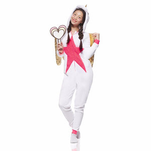 Onesie World Unisex Animal Pyjamas - Golden Winged Unicorn Adult (Cosplay / Nightwear Halloween