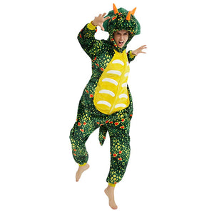 Onesie World Unisex Animal Pyjamas - Green Triceratops Dinosaur Adult Onesie (Cosplay / Nightwear / Halloween / Carnival / Novelty Costume)