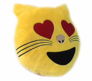 Emoji Cat Pillow Pillow