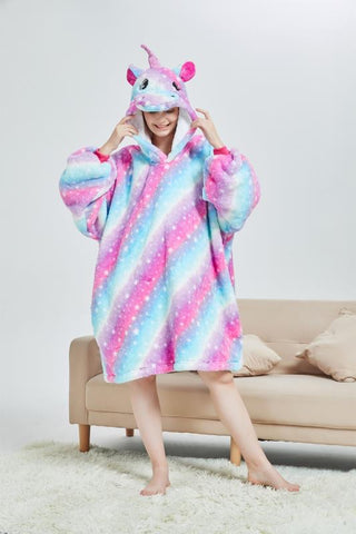 My Snuggy - Galaxy Starry Sky Unicorn Oversized Blanket Hoodie