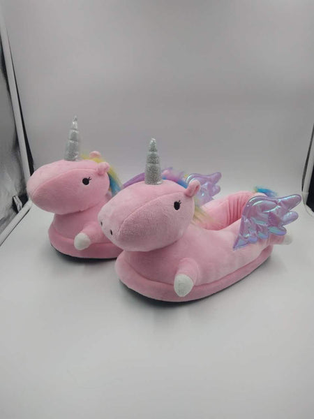 Winged Unicorn Slippers Pink Slippers