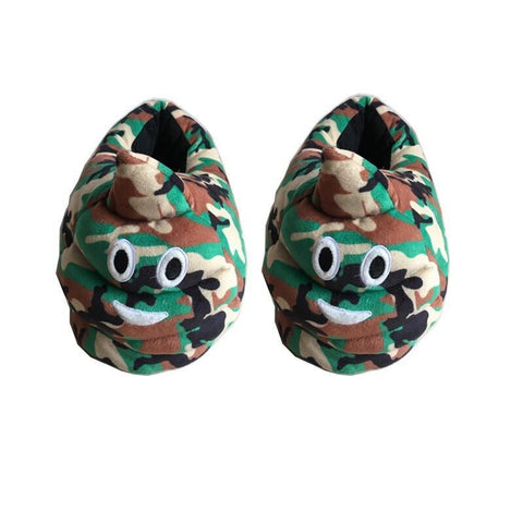 Camouflage Poop Slippers Slippers