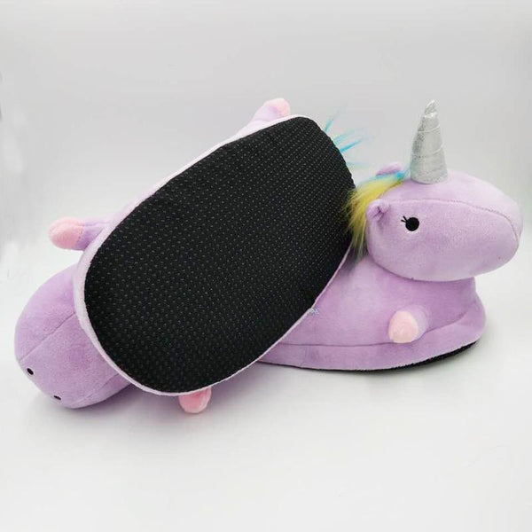 Winged Unicorn Slippers Purple Slippers