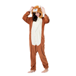 Onesie World Unisex Animal Pyjamas - Lion Adult (Cosplay / Nightwear Halloween Carnival Novelty