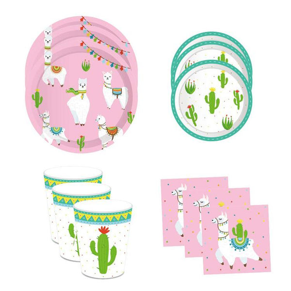 Llama Theme Birthday Party Cutlery Package (#Type B)