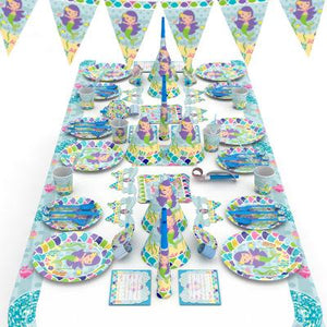 Mermaid Theme Birthday Party Supplies MEGA Package (#Type A)