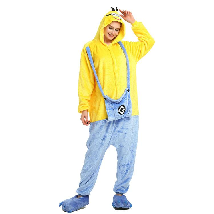 Onesie World Unisex Animal Pyjamas - Minion Adult (Cosplay / Nightwear Halloween Carnival Novelty