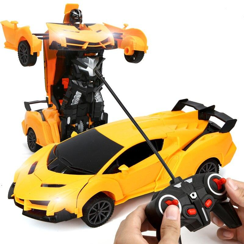1:18 Transformer Remote Control Car Model Kids Toy - Yellow Toys