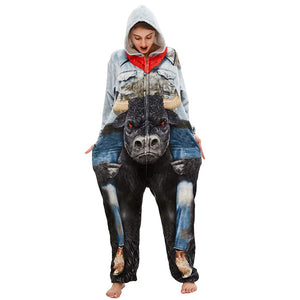 Onesie World Unisex Animal Pyjamas - Minotaur Adult Onesie (Cosplay / Nightwear / Halloween / Carnival / Novelty Costume)