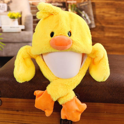 Cute Movable / Jumping Dancing - Ear Duck Funny Hat Animal Hats