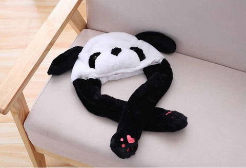 Cute Movable / Jumping Dancing - Ear Panda Funny Hat With Led Light Animal Hats